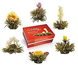 Aufblühtee in edler Geschenkbox | Weißer Tee