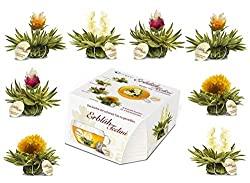 Erblühtee-Variation mit 8 Teeblüten in 4 verschiedenen Sorten | Weißer Tee